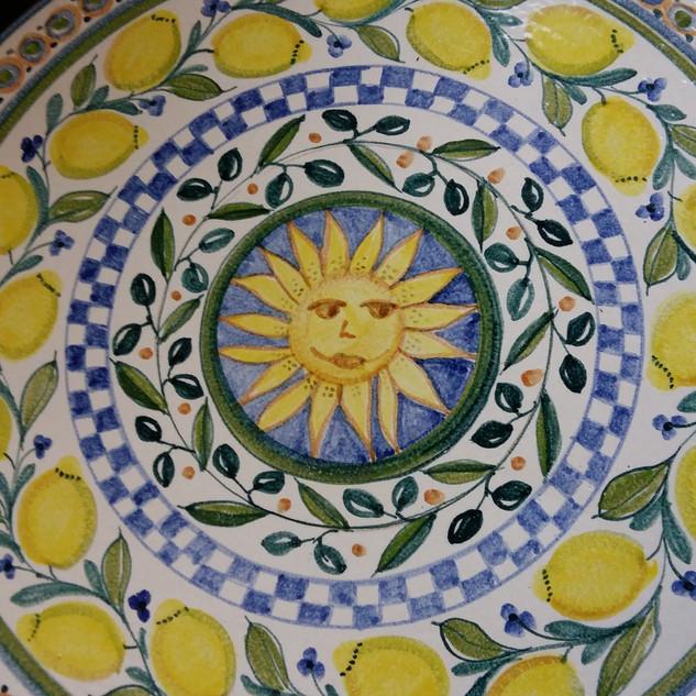 Tischplatte Sonne