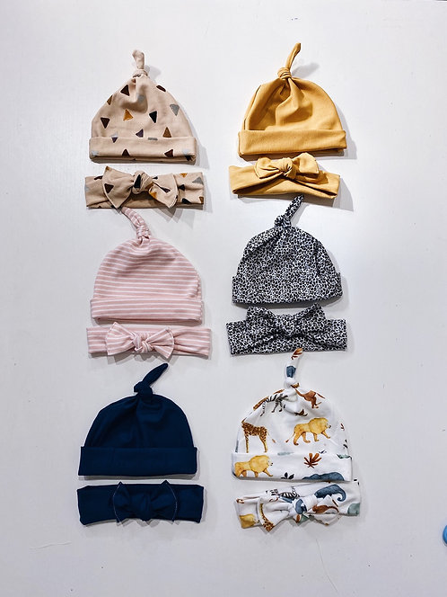 Jersey Beanie and Bows