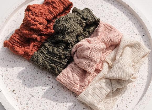 Knit Top Knot Headbands