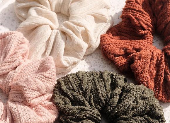 Knit Scrunchies