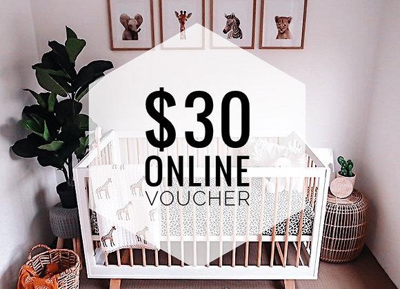 $30 Online Gift Voucher