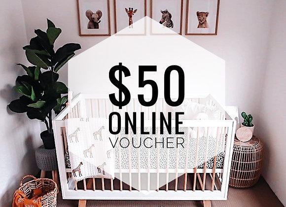 $50 Online Gift Voucher