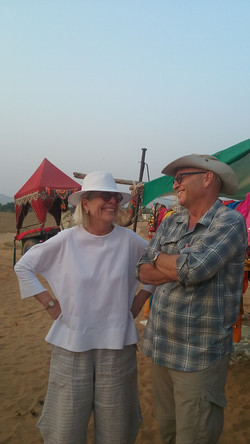 After the Camel Cart Ride