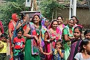 Indian Women Celebrating in Colorful saris