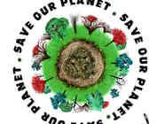 Save our planet logo design