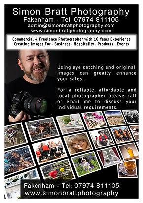 Leaflet design for Simon Brat Photography