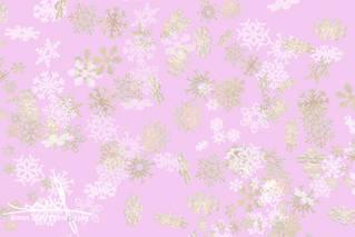 Falling snowflakes pattern on pink backg
