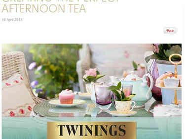 Twinings website
