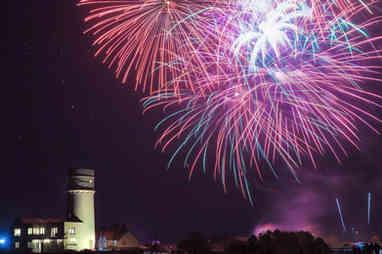 Hunstanton fireworks night 2017 in Norfolk UK
