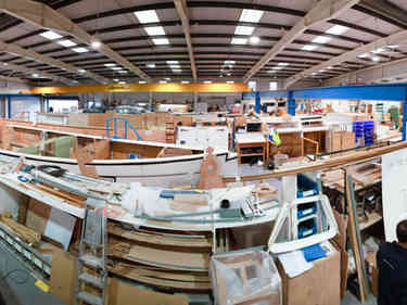 Yacht building business panoramic