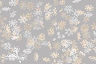 Falling snowflakes pattern on grey backg