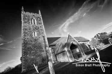 Historic Church in black and white