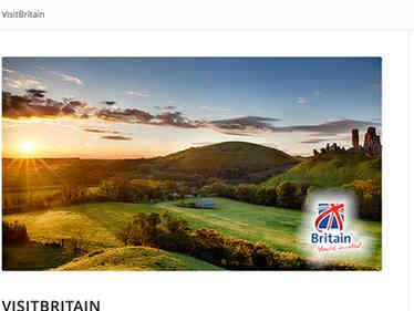 Visit britain website