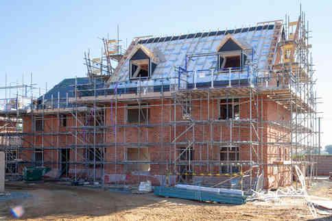 New build construction site