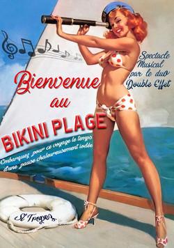 affiche Bikini Plage