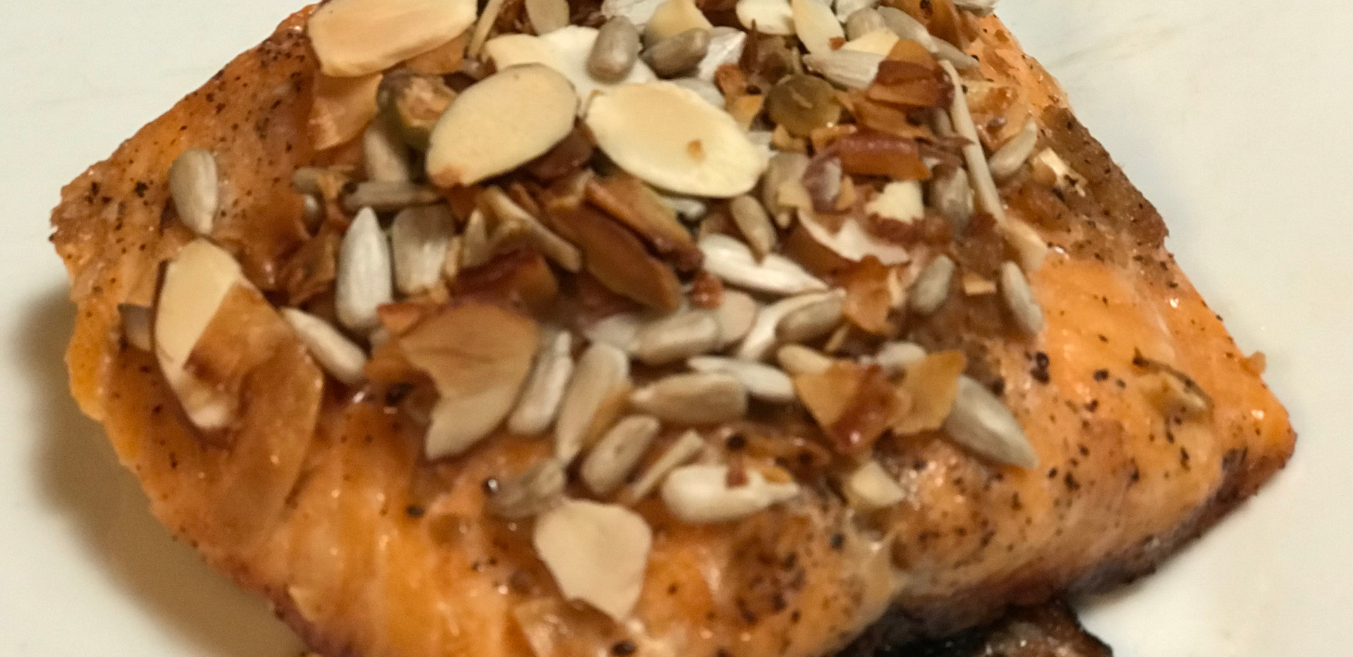 Baked Salmon with mixed nuts