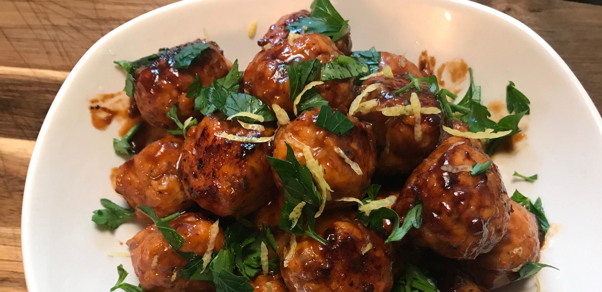 Teriyaki Glazed Salmon Meatball