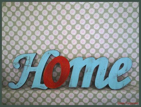 H20 שילוט דקורטיבי לבית בסגנון מיושן  / Home sign