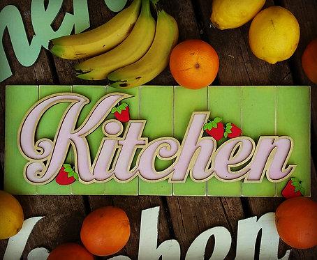 שילוט מיוחד למטבח בסגנון פין אפ שנות ה50 , צבעוני ושמח יעורר כל מטבח