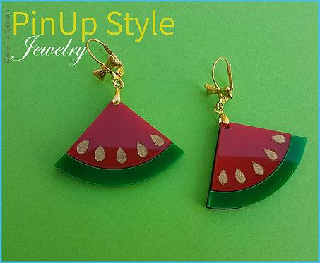 Watermelon Earrings / עגילי אבטיח