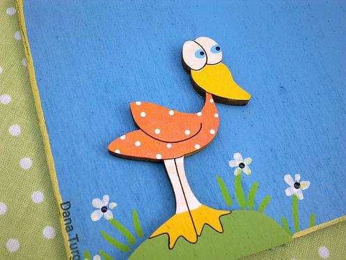 שלט לדלת עם ברווז