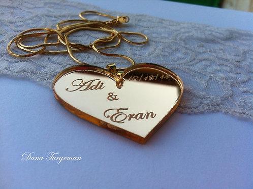 שרשרת לב מוזהב / Golden Heart Necklace (L)