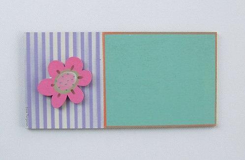 שלט לדלת מעץ עם פרח ורוד / wooden door sign