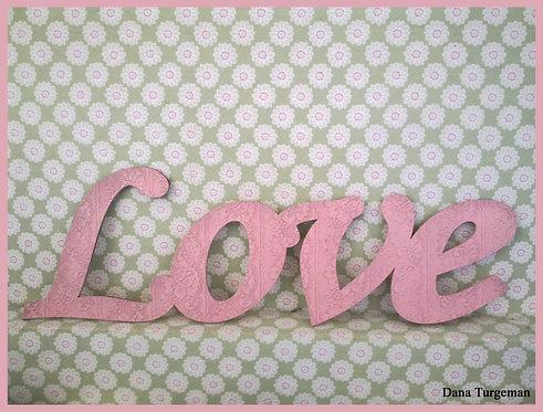 שילוט דקורטיבי לבית בסגנון מיושן  / Love sign