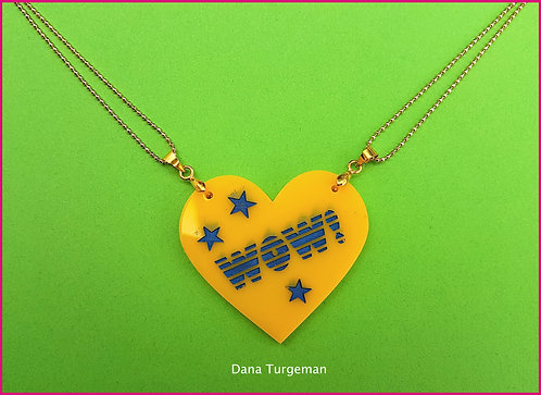 Yellow Heart Necklace WOW שרשרת לב צהוב