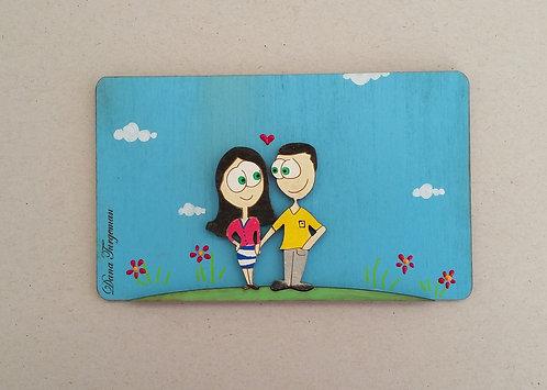 שלט לדלת עם זוג רומנטי