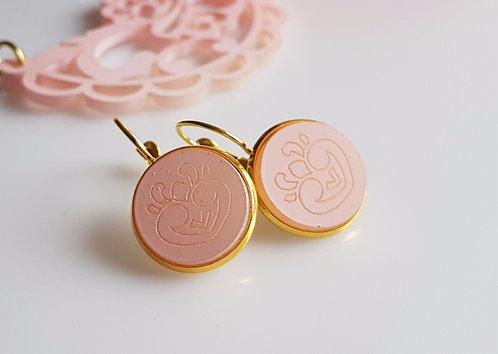 Jewelry Set Dainty light Pink סט תכשיטי תחרה בורוד