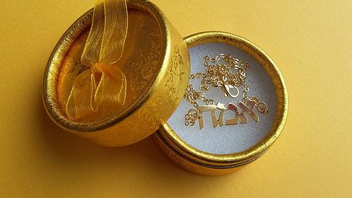Hebrew Name Necklace Classic font שרשרת שם עדינה בזהב , פונט דפוס