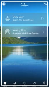 meditační aplikace Calm