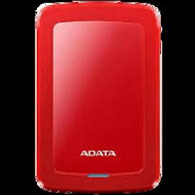 ADATA Disco Duro Externo HDD HV300, 1 TB, Rojo USB 3.1, Ultra Delgado, 1 TB