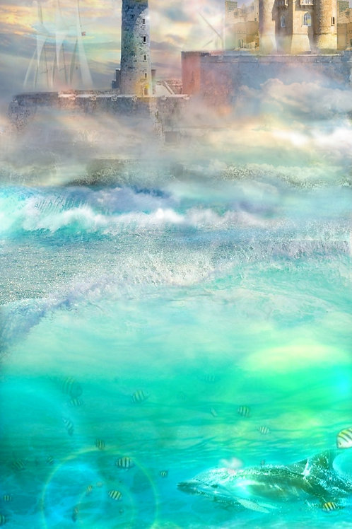 """Desired Haven - Limited Edition Framed Enhanced Canvas Giclée Print 16""""x40"""""""