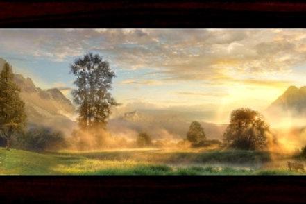 "Peaceful Valley - Vista Framed Limited Edition Prints 6"" x 18"" (Framed size)"