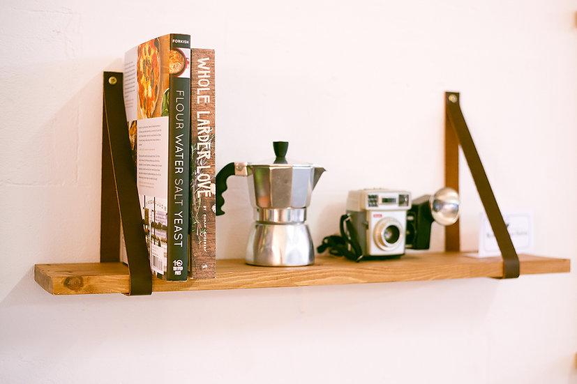Leather & Wood Shelf