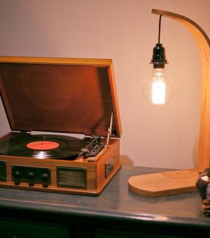 Bent Oak Table Lamp