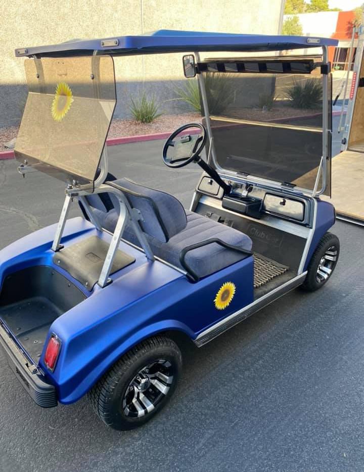 AZGP Golf Cart Wrap Sunflower