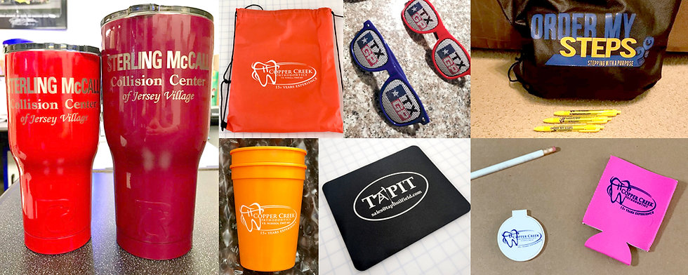 Arizona Graphic Pros Promo Items, Cups, Pens