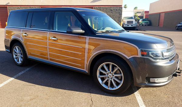 AZGP-Vehicle Graphics Ford Flex Woody 2-