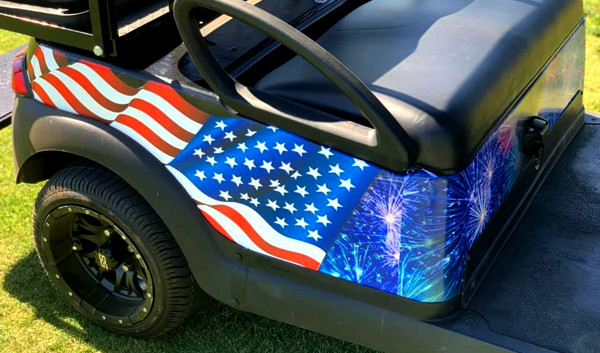 AZGP-Vehicle Wrap Golf Cart USA