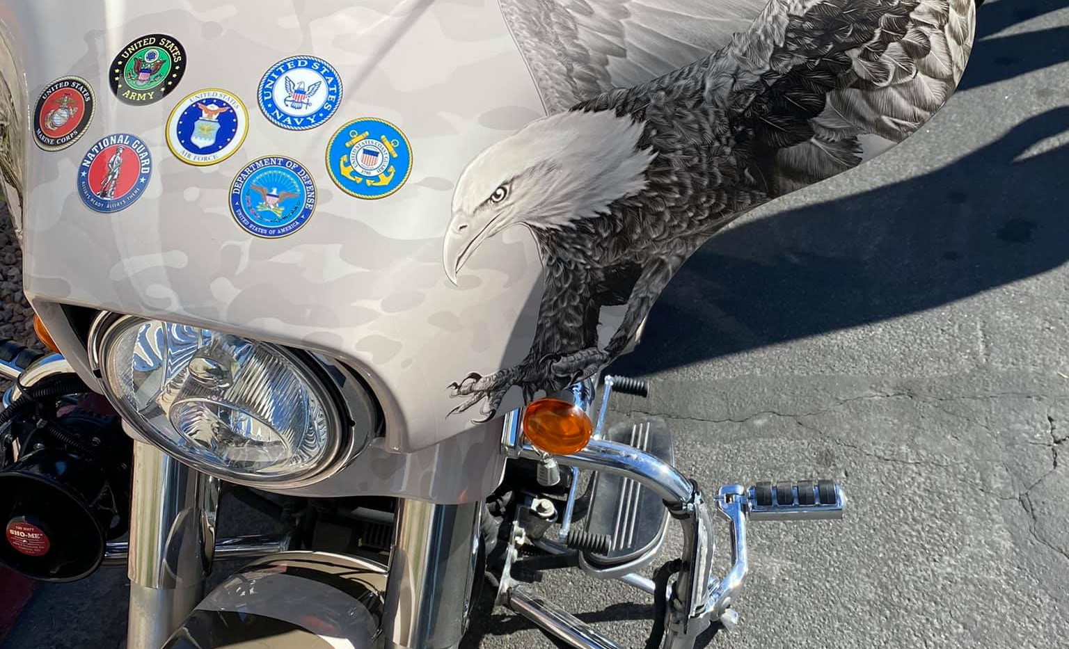 Harley for The Arizona Patriot Guard Riders Medals Front