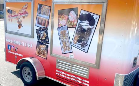Wrap Food Truck Kreamy Waffle Rt Side