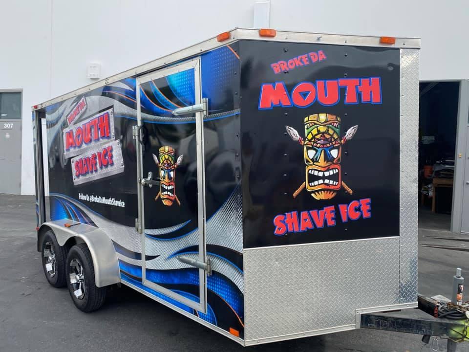 AZGP Food Truck Wrap Brake Da Mouth Shaved Ice