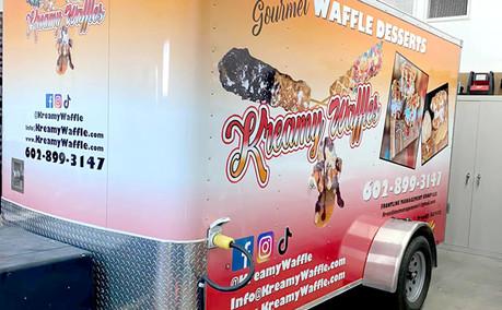 Vehicle Wrap Food Truck Kreamy Waffle