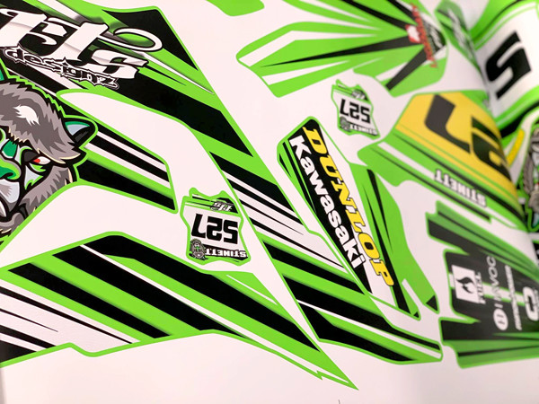 AZGP-Vehicle Wrap UTV Decals Dunlop Kawa