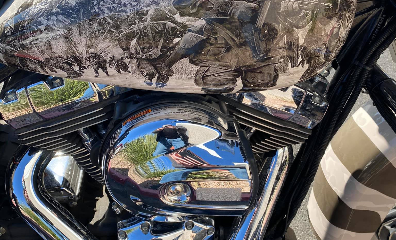 Harley for The Arizona Patriot Guard Riders Soldiers Fuel Tank