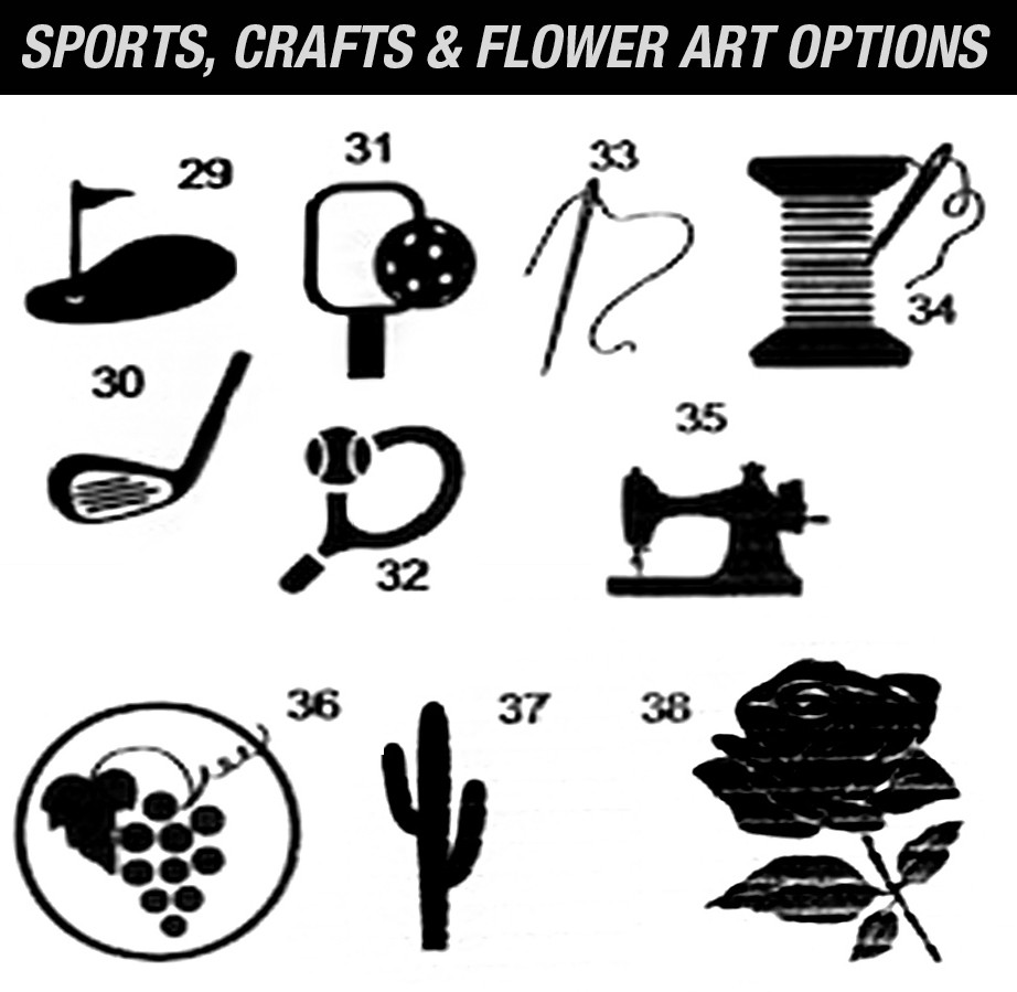 Happy Trail Sign Sports Crafts Flowers A