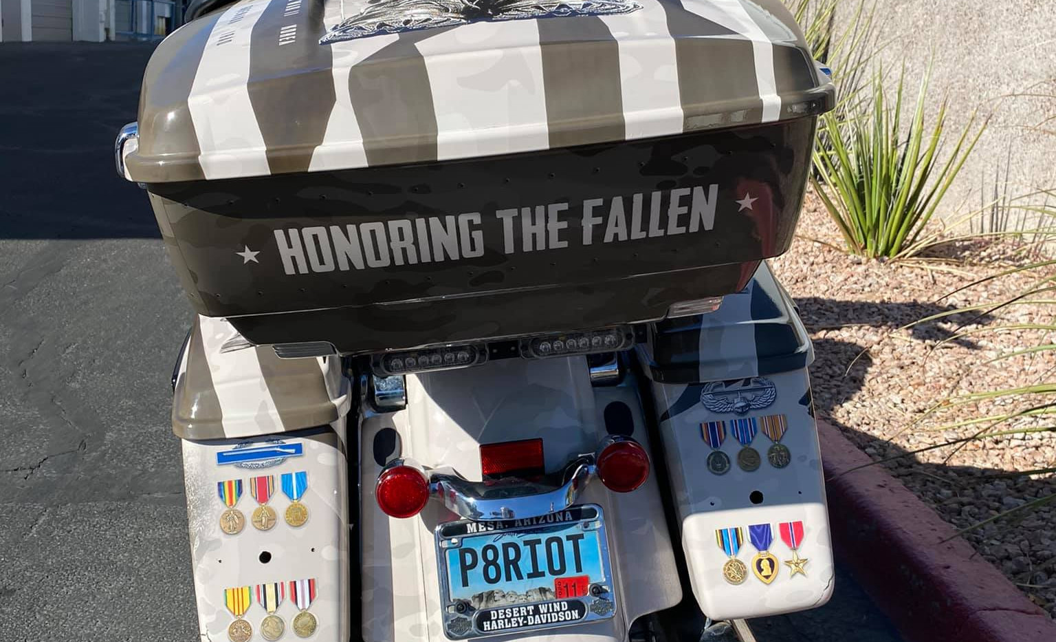 Harley for The Arizona Patriot Guard Riders Rear View